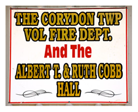 Corydon Firehall Sign